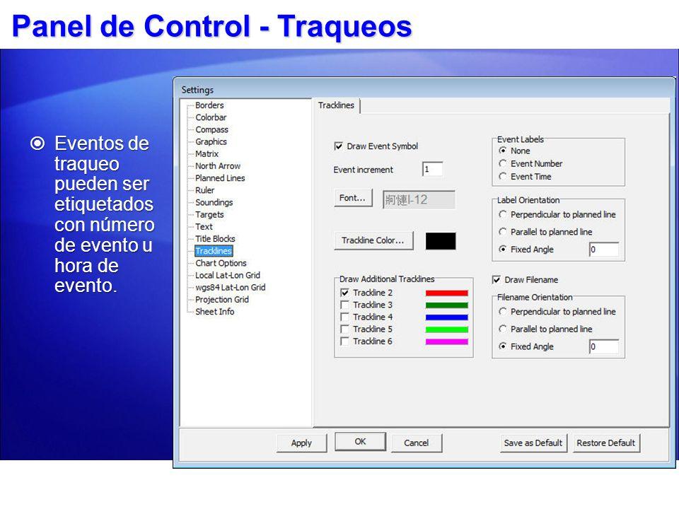Panel de Control - Traqueos