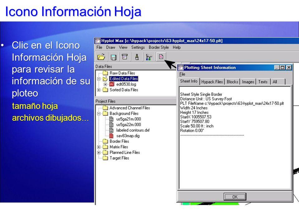 Icono Información Hoja