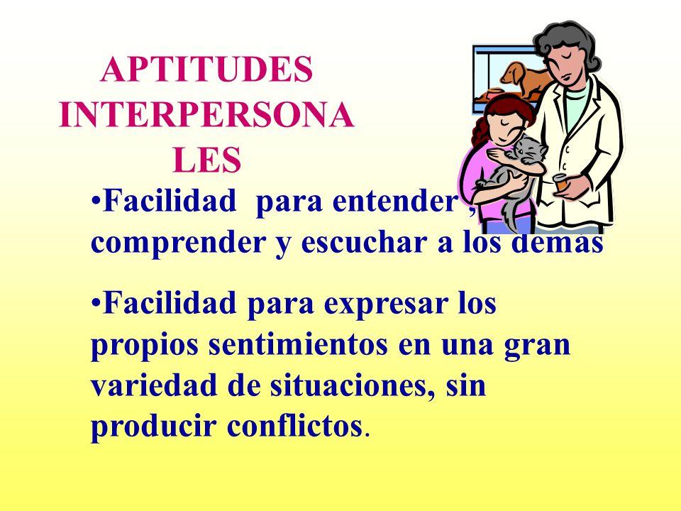 APTITUDES INTERPERSONALES