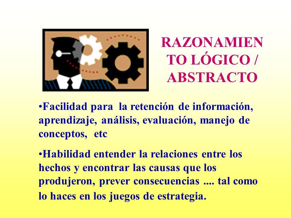 RAZONAMIENTO LÓGICO / ABSTRACTO
