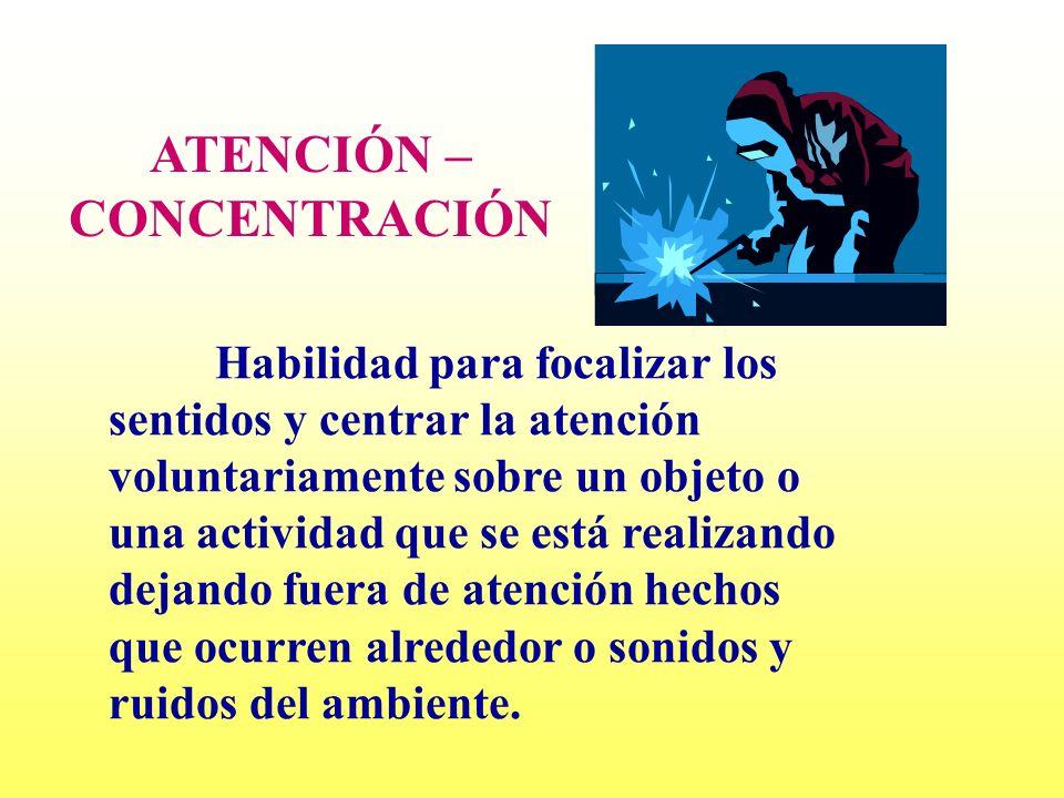 ATENCIÓN – CONCENTRACIÓN