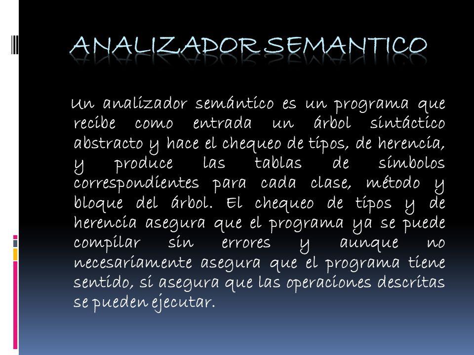 ANALIZADOR SEMANTICO