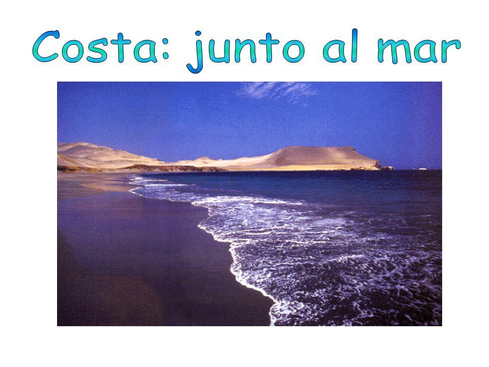 Costa: junto al mar