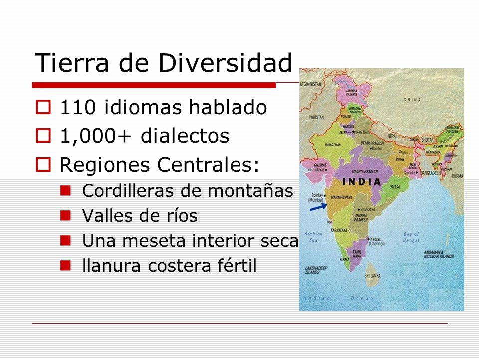Tierra de Diversidad 110 idiomas hablado 1,000+ dialectos