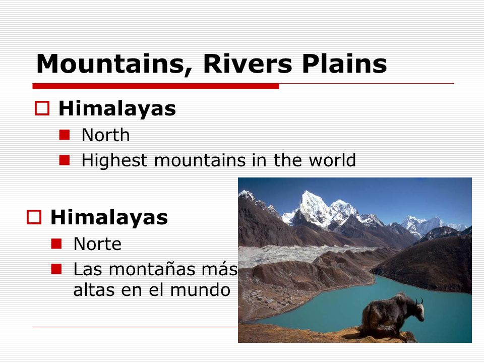 Mountains, Rivers Plains