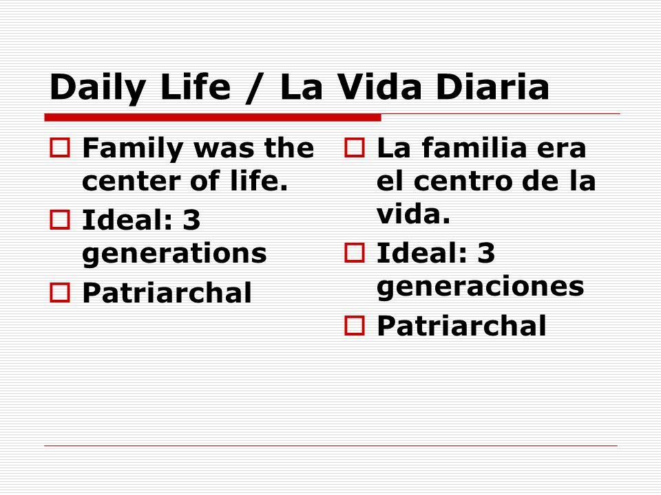 Daily Life / La Vida Diaria