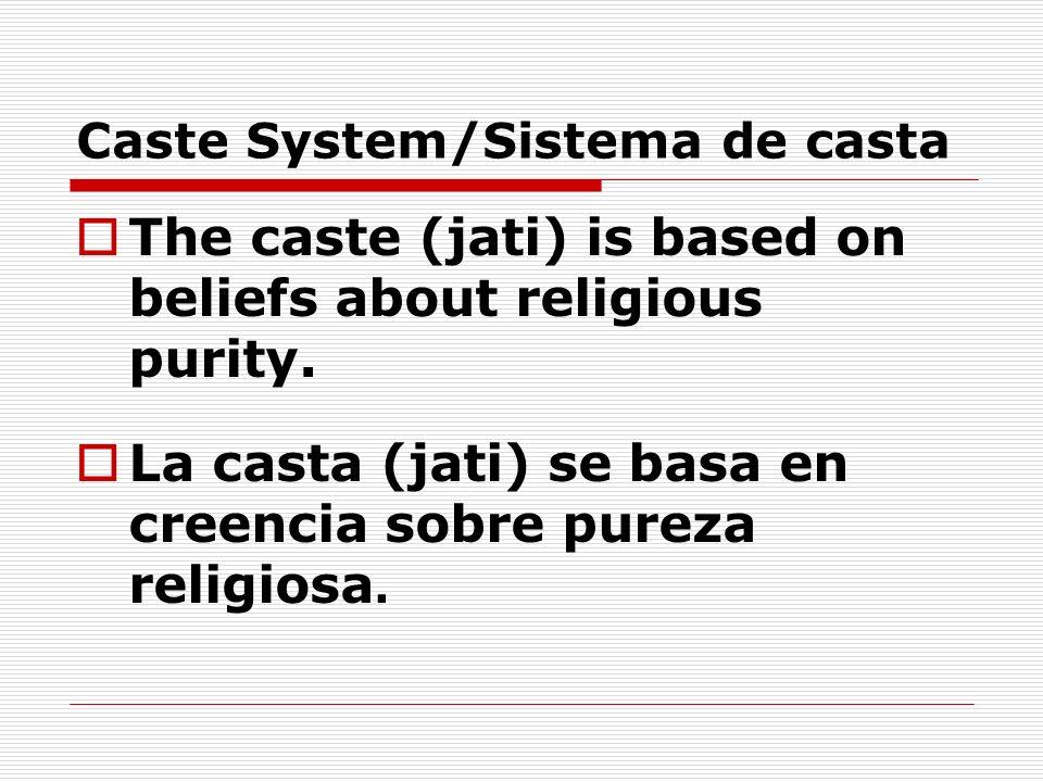Caste System/Sistema de casta