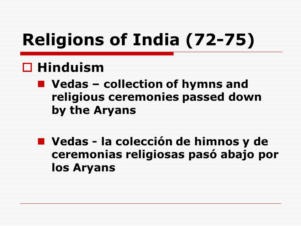 Religions of India (72-75) Hinduism