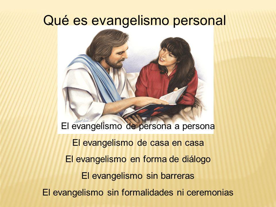 Qué es evangelismo personal