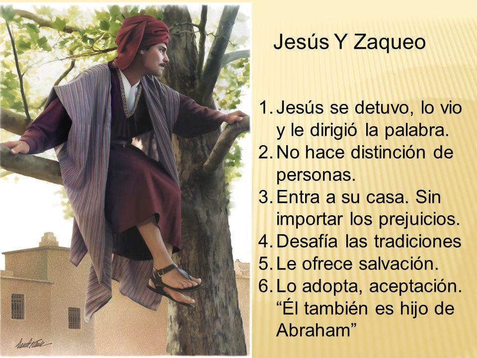 Jesús Y Zaqueo Jesús se detuvo, lo vio y le dirigió la palabra.