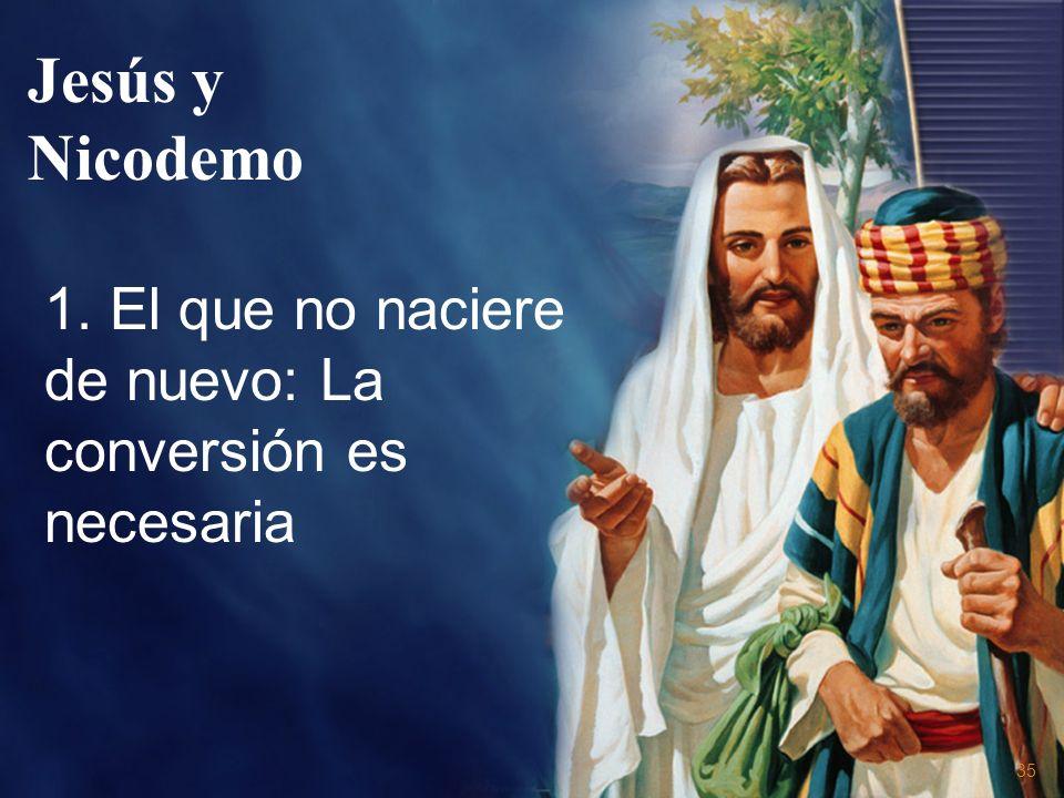 Jesús y Nicodemo 1. El que no naciere de nuevo: La conversión es necesaria