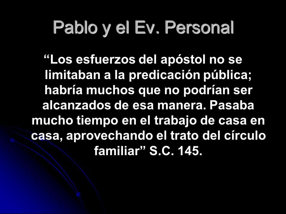 Pablo y el Ev. Personal