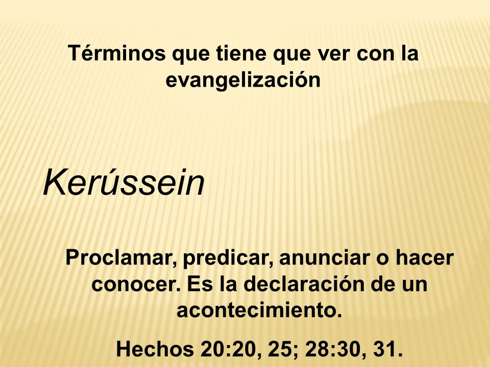 Términos que tiene que ver con la evangelización