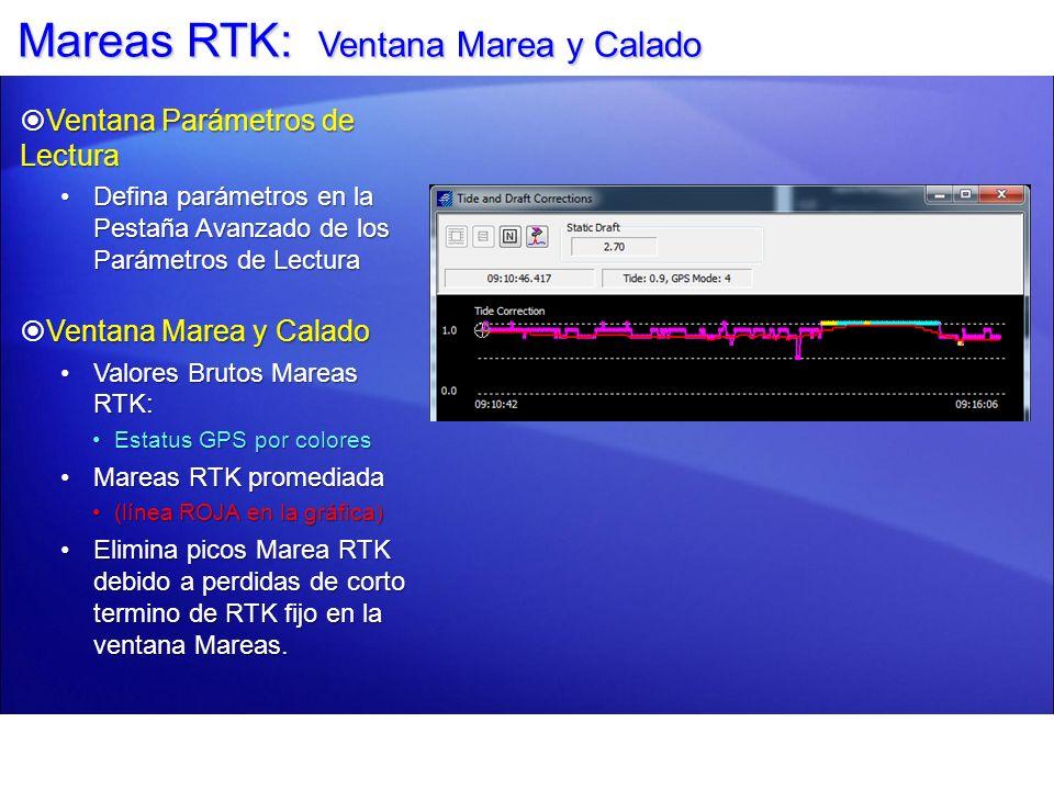 Mareas RTK: Ventana Marea y Calado