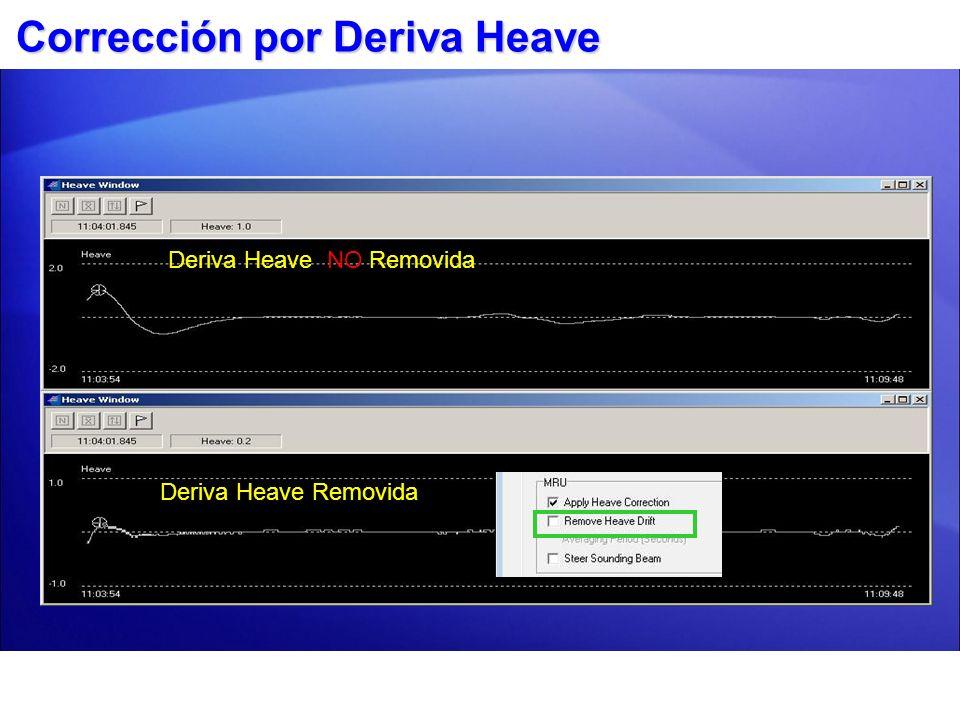 Corrección por Deriva Heave