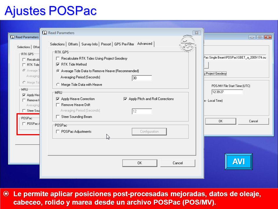 Ajustes POSPac AVI.