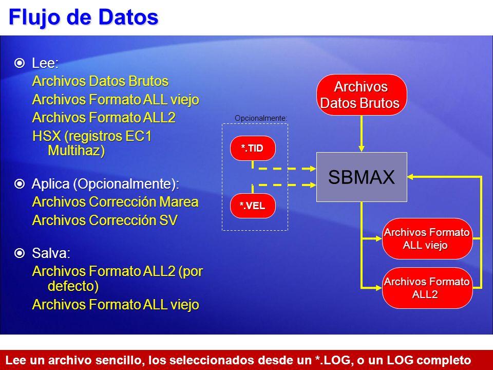 Flujo de Datos SBMAX Lee: Archivos Datos Brutos