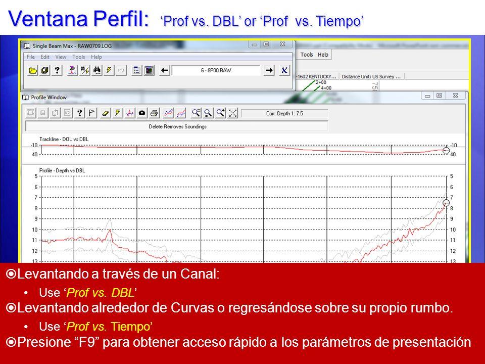 Ventana Perfil: 'Prof vs. DBL' or 'Prof vs. Tiempo'