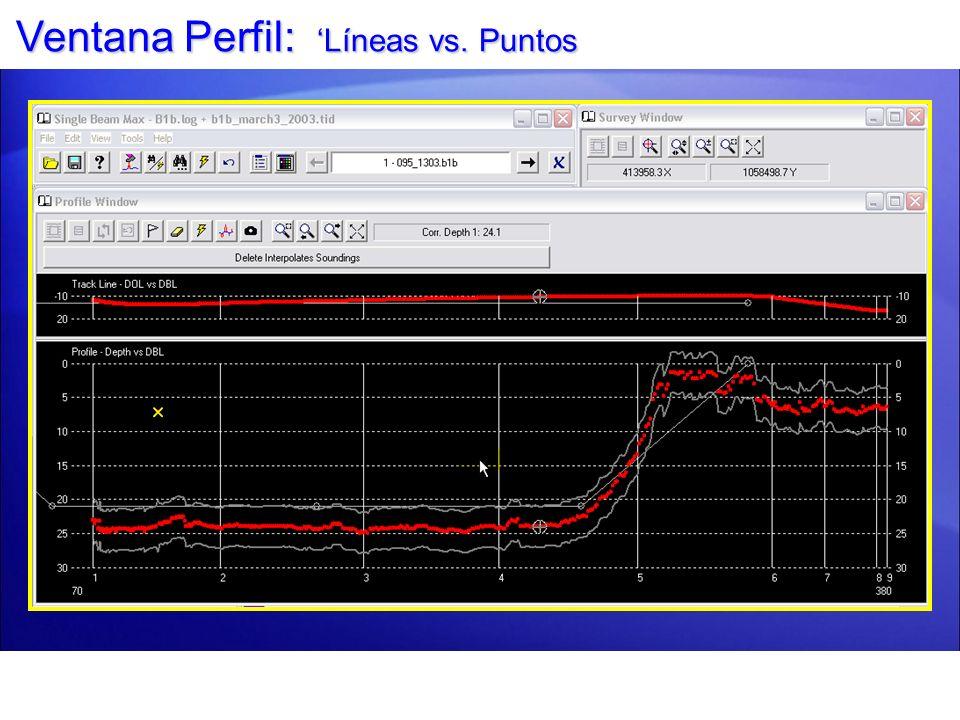Ventana Perfil: 'Líneas vs. Puntos