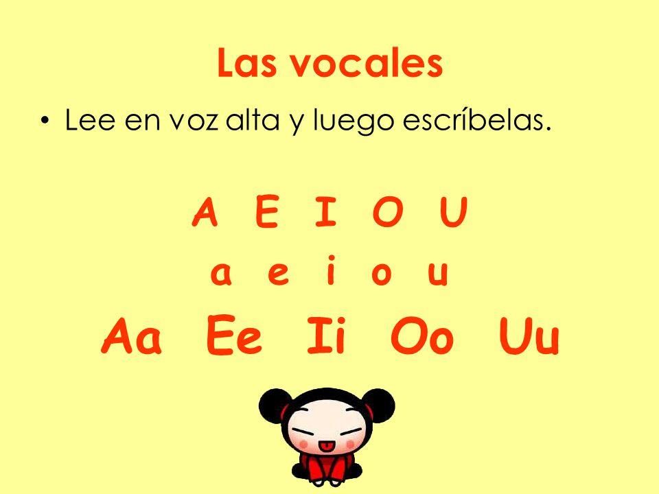 Aa Ee Ii Oo Uu Las vocales A E I O U a e i o u