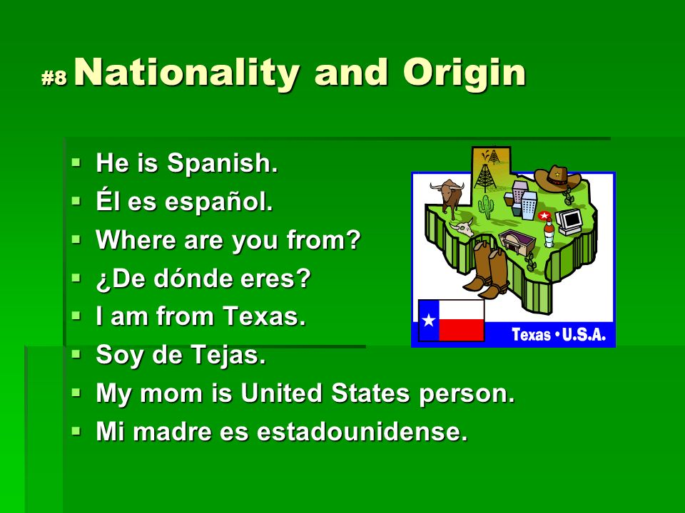 #8 Nationality and Origin