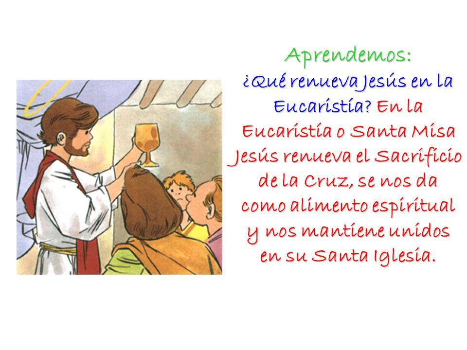 Aprendemos: ¿Qué renueva Jesús en la Eucaristía