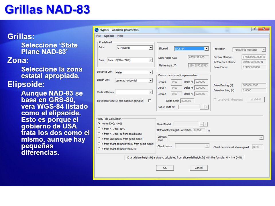 Grillas NAD-83 Grillas: Zona: Elipsoide: