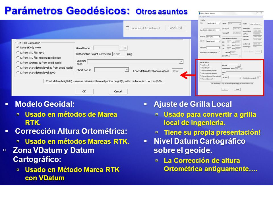 Parámetros Geodésicos: Otros asuntos