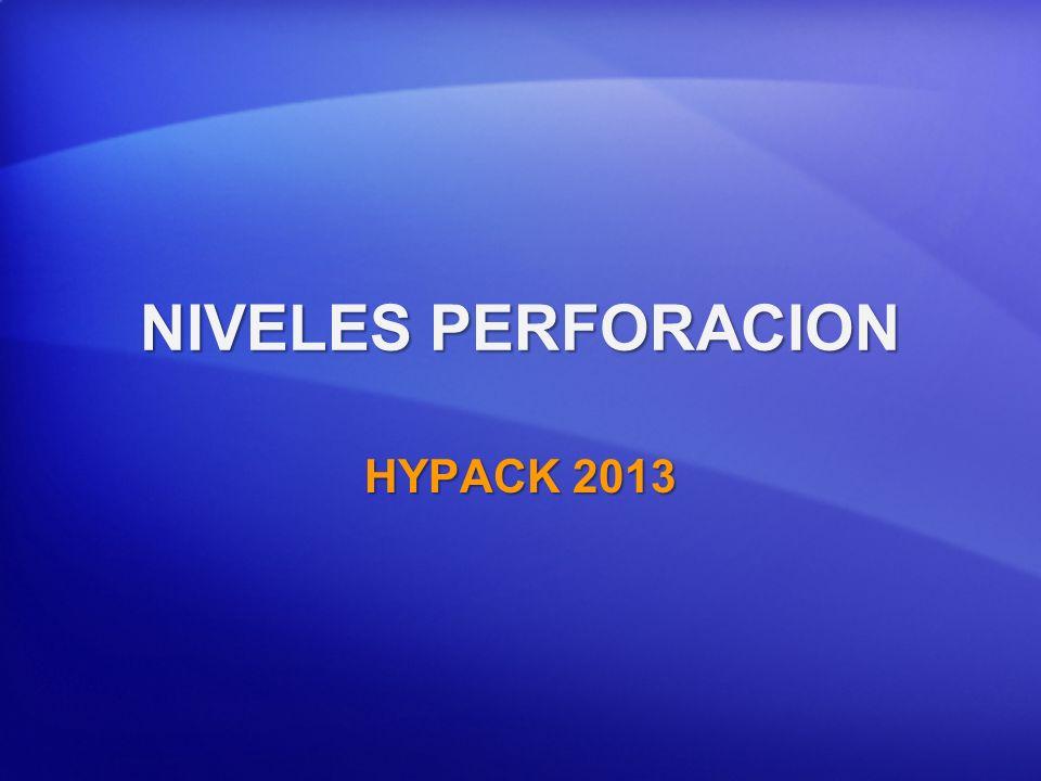 NIVELES PERFORACION HYPACK 2013