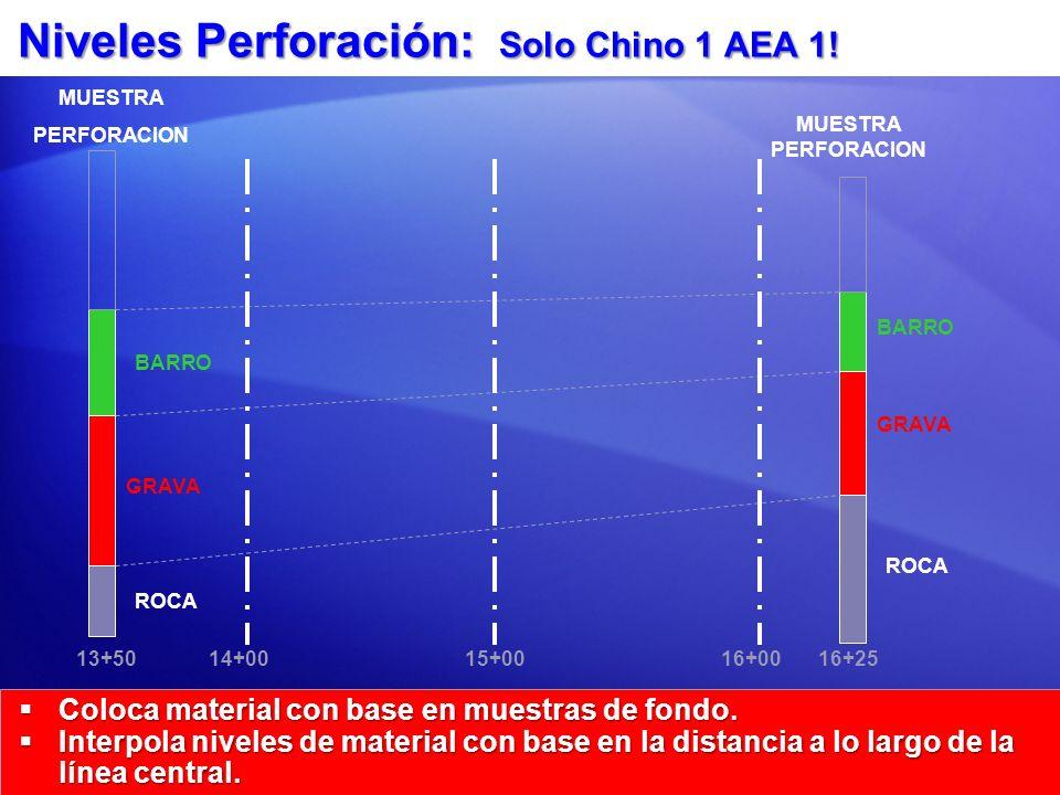 Niveles Perforación: Solo Chino 1 AEA 1!