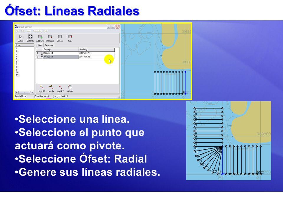 Ófset: Líneas Radiales
