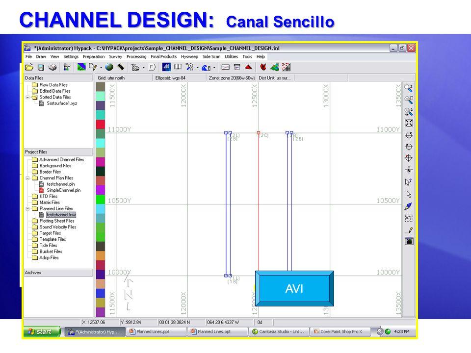 CHANNEL DESIGN: Canal Sencillo