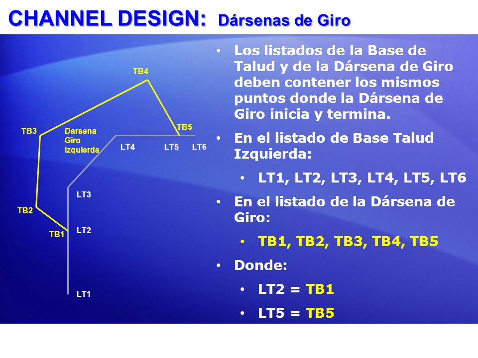 CHANNEL DESIGN: Dársenas de Giro
