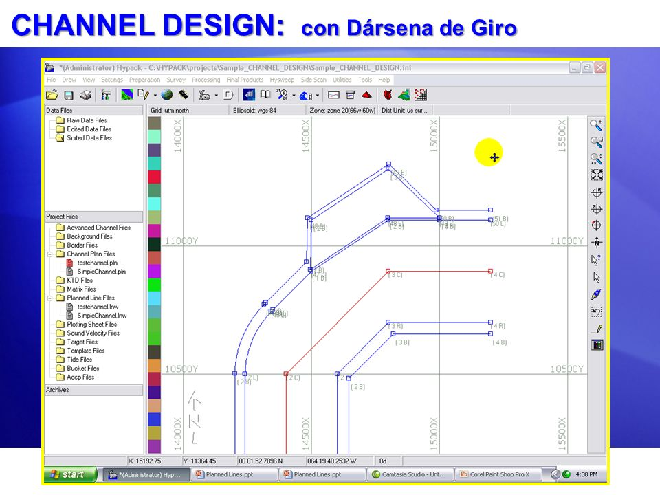 CHANNEL DESIGN: con Dársena de Giro