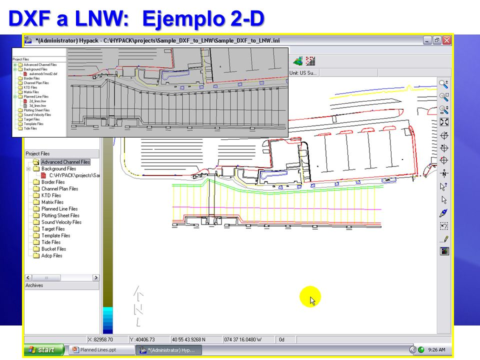 DXF a LNW: Ejemplo 2-D
