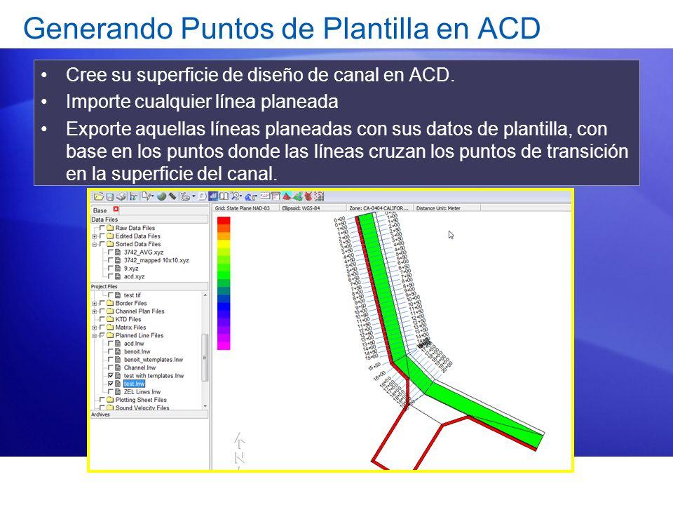 Generando Puntos de Plantilla en ACD