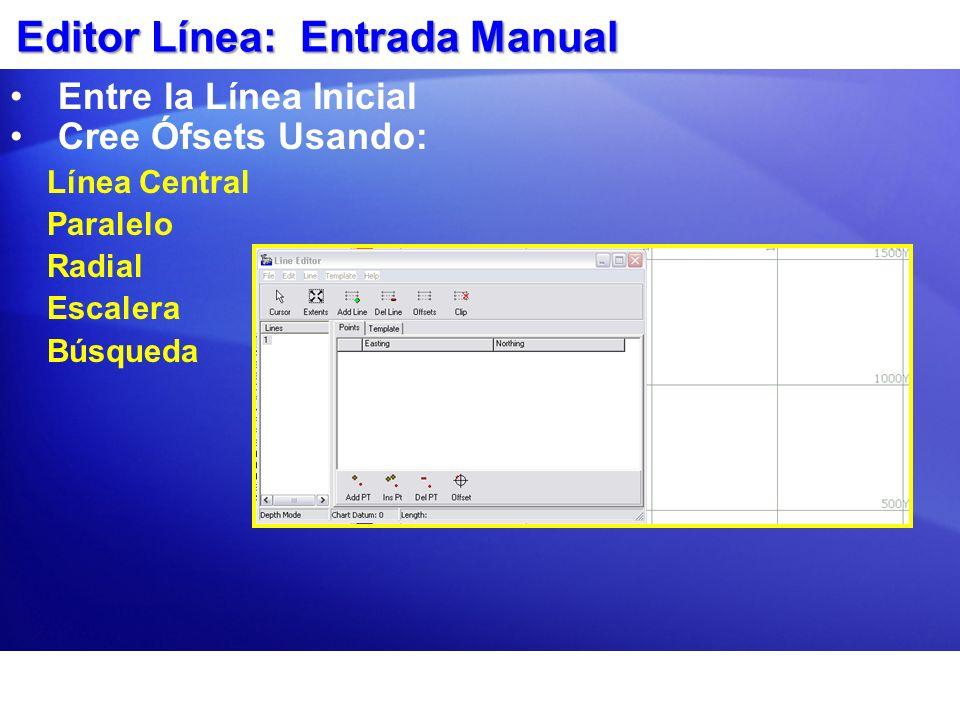 Editor Línea: Entrada Manual