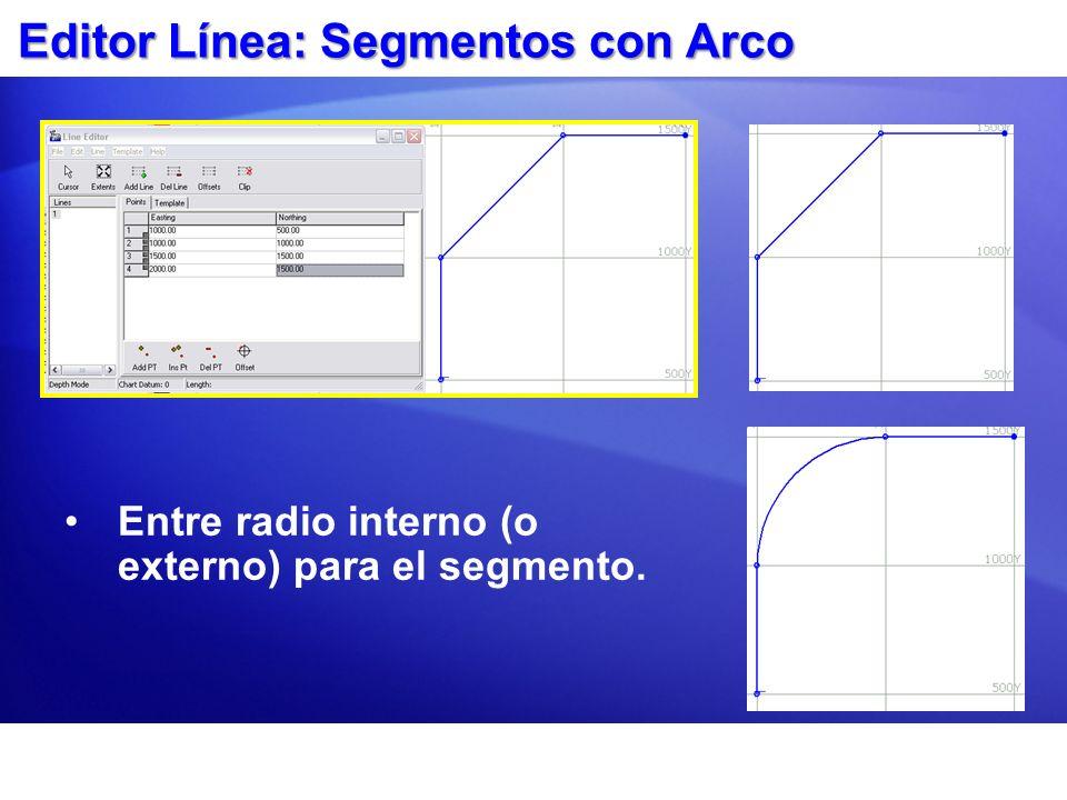 Editor Línea: Segmentos con Arco