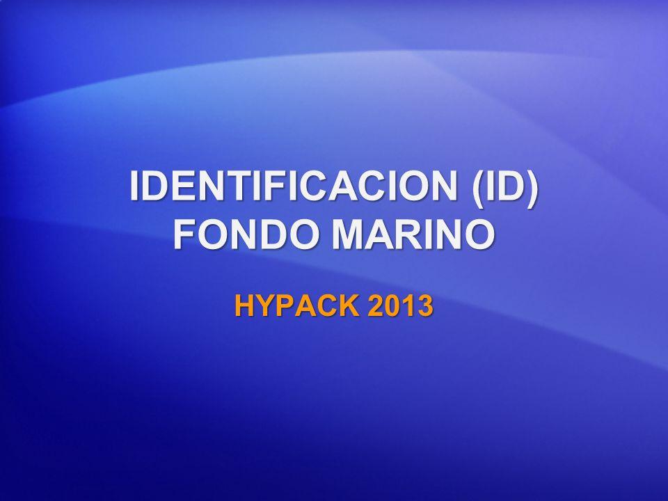 IDENTIFICACION (ID) FONDO MARINO