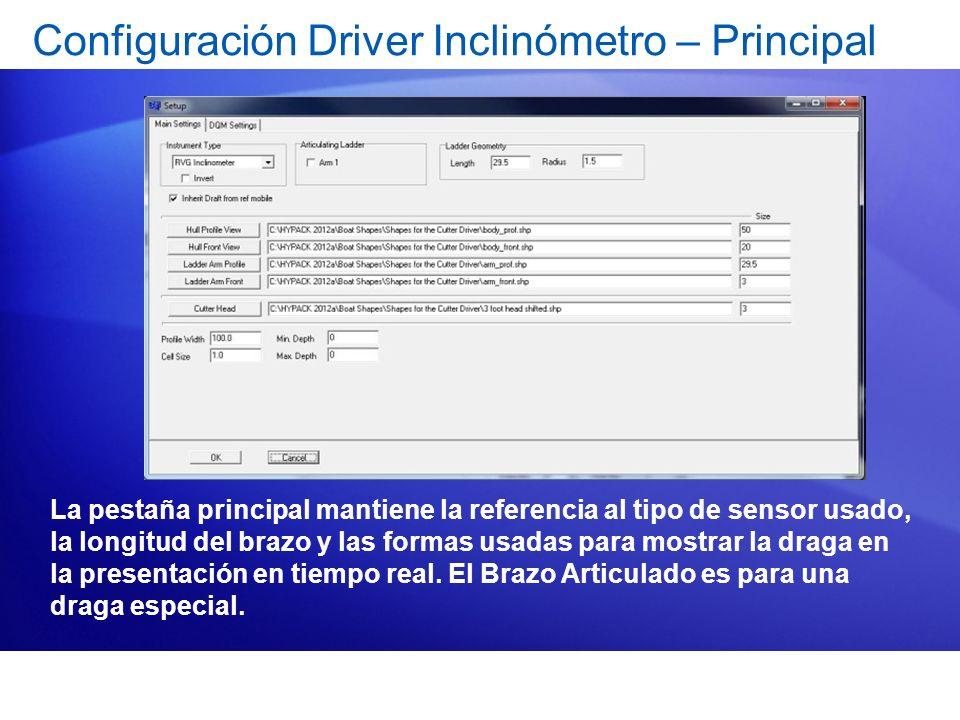 Configuración Driver Inclinómetro – Principal