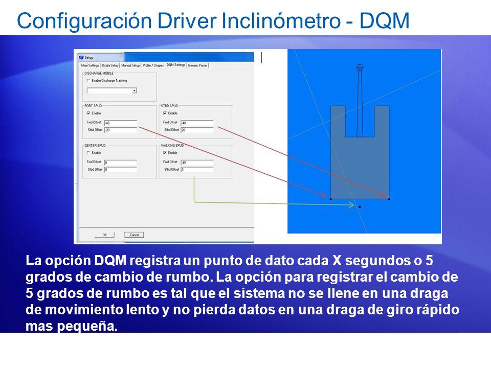 Configuración Driver Inclinómetro - DQM