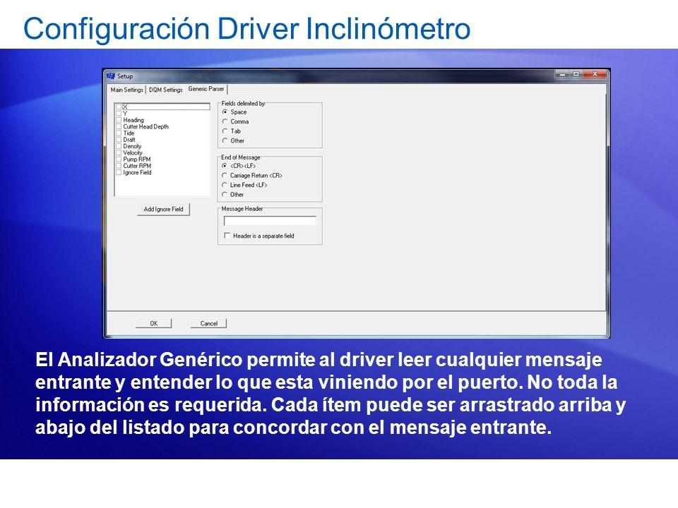 Configuración Driver Inclinómetro