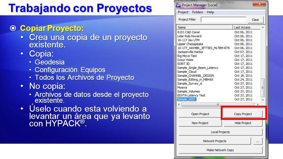 Trabajando con Proyectos