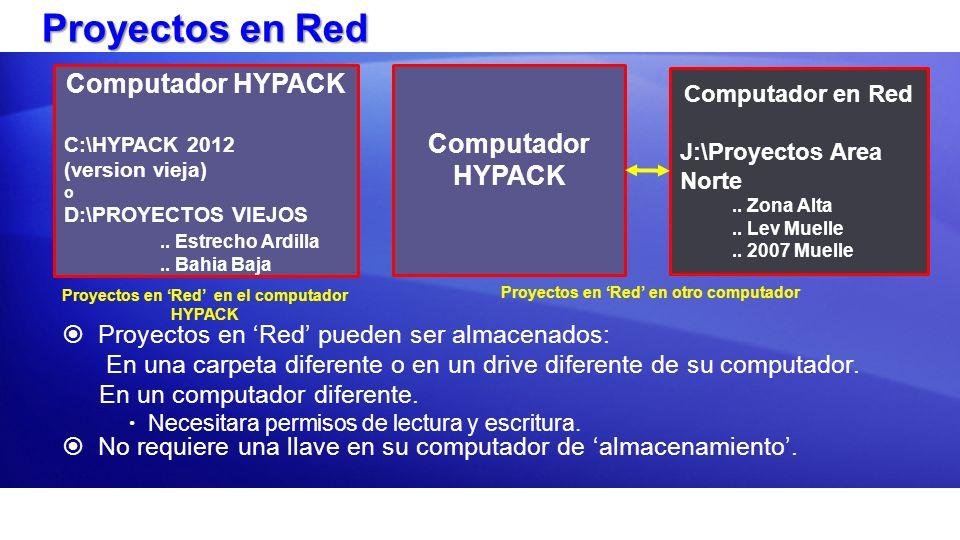 Proyectos en Red Computador HYPACK Computador HYPACK