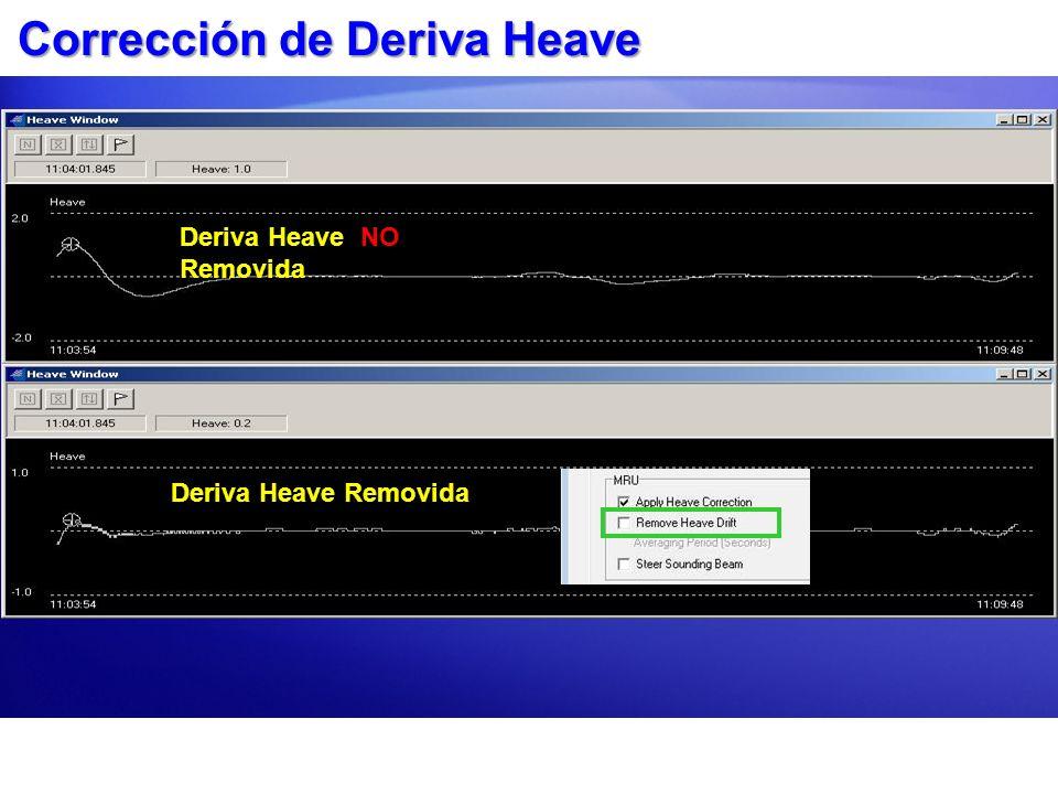 Corrección de Deriva Heave