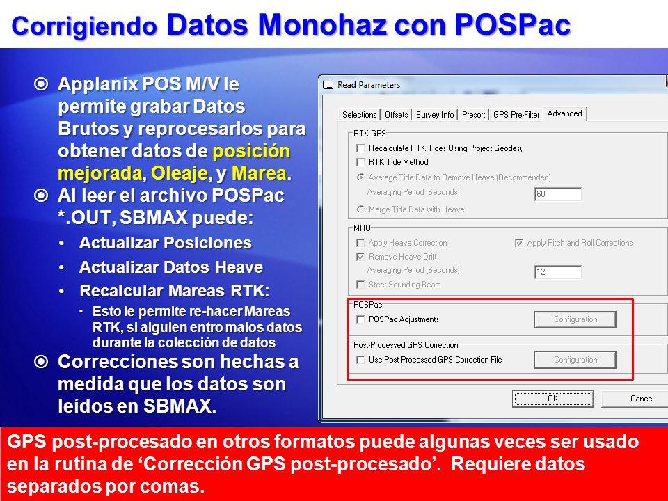Corrigiendo Datos Monohaz con POSPac