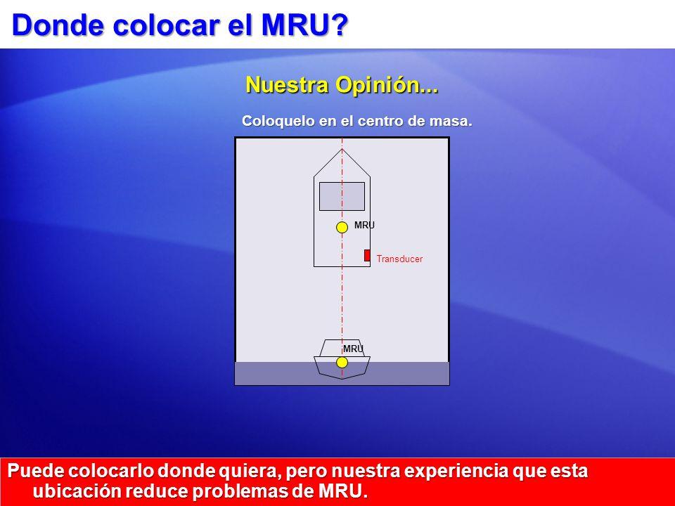 Donde colocar el MRU Nuestra Opinión...