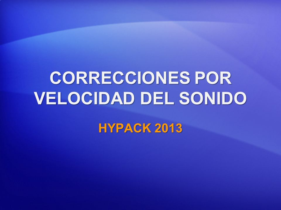 CORRECCIONES POR VELOCIDAD DEL SONIDO