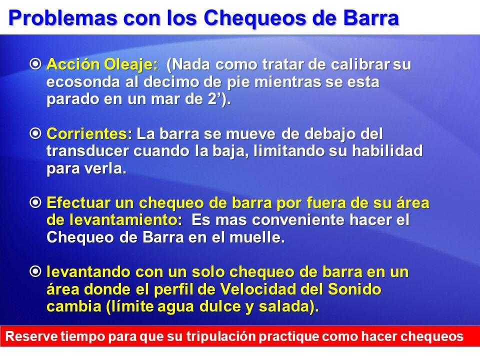 Problemas con los Chequeos de Barra