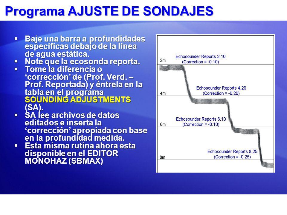 Programa AJUSTE DE SONDAJES